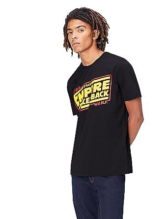 8cd10fda0dede6 FIND T-Shirt Herren mit Star Wars-Logo und rundem Ausschnitt  Amazon.de   Bekleidung