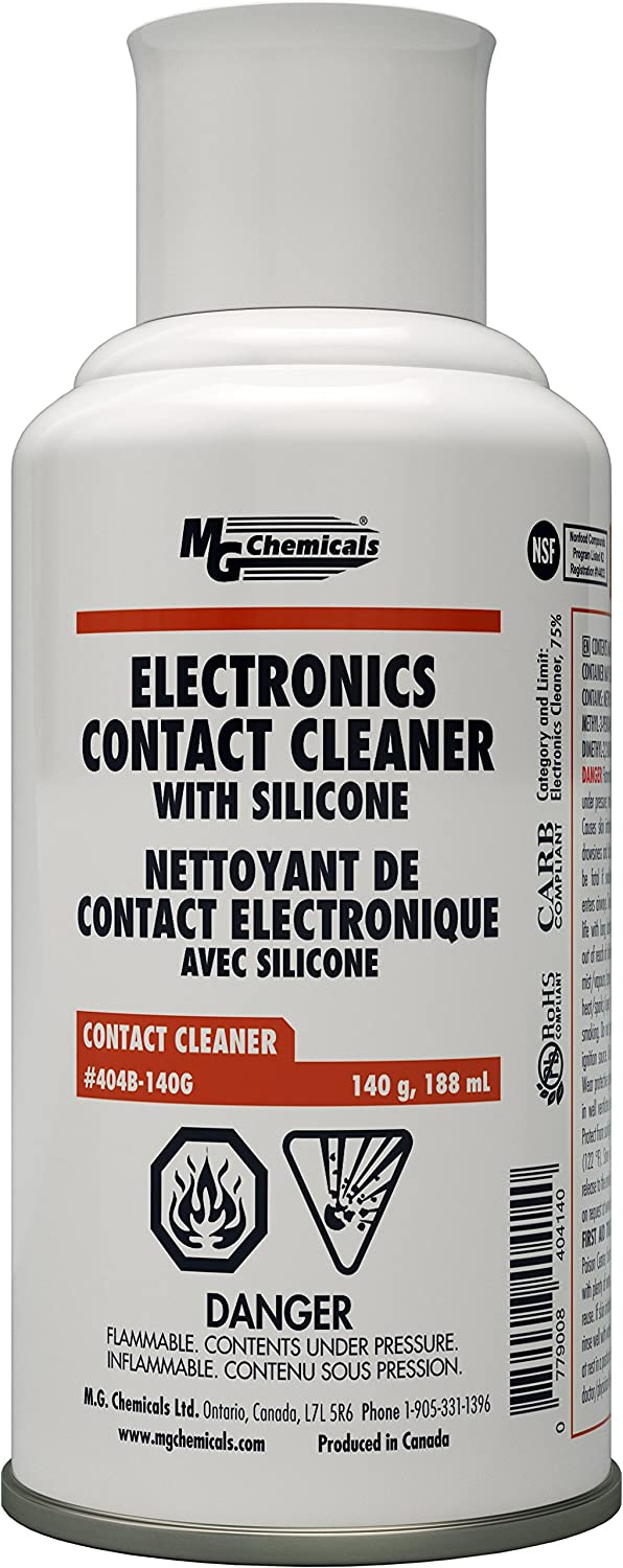 MG Chemicals 404B Contact Cleaner with Electronic Grade Silicones, 140g (5 oz) Aerosol Can