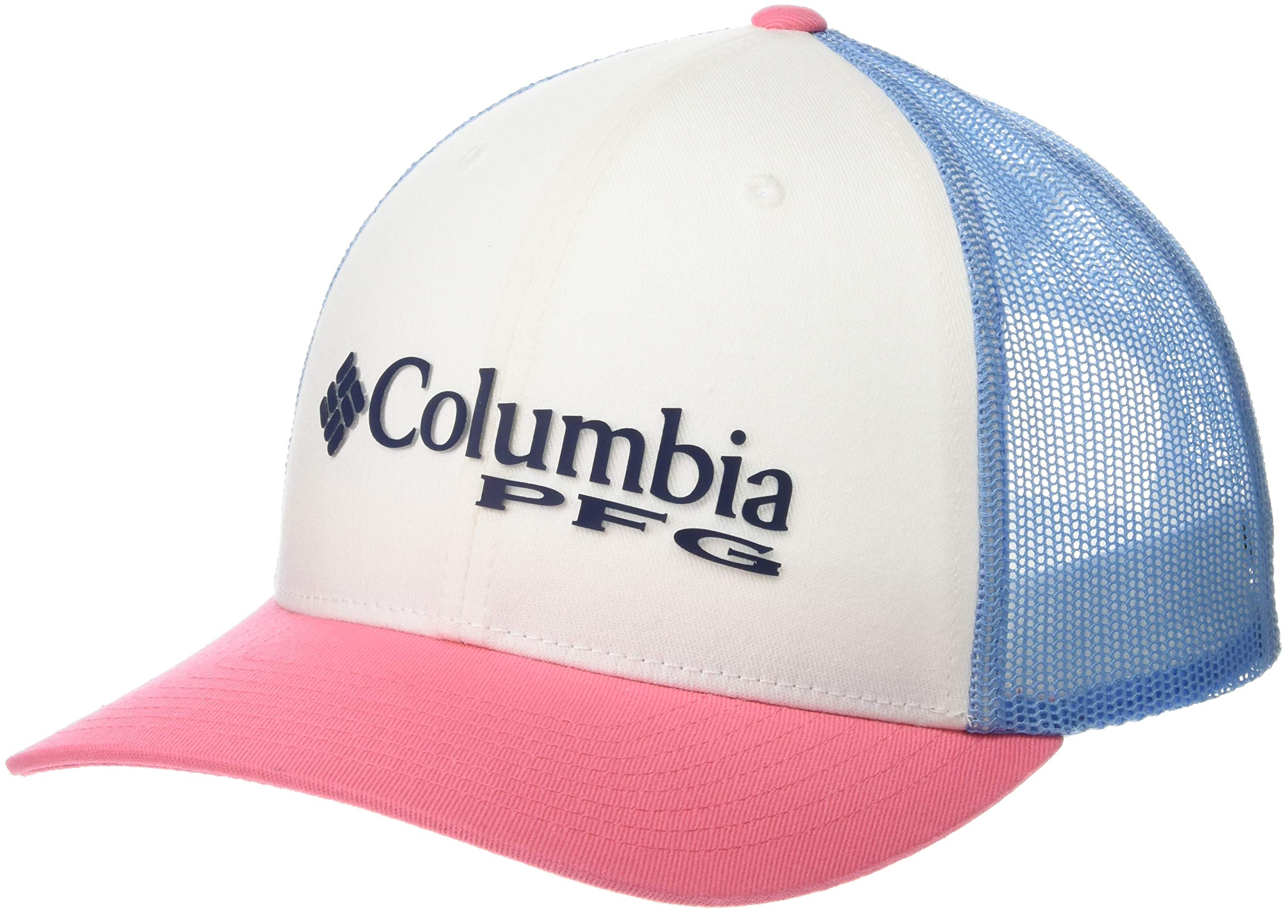 Columbia Women's PFG Mesh Ball Cap,White, Sail by Columbia