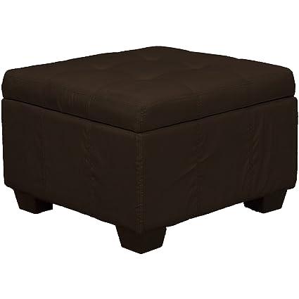 24u0026quot; x 24u0026quot; x 18u0026quot; high Tufted Padded Hinged Storage Ottoman Bench  sc 1 st  Amazon.com & Amazon.com: 24