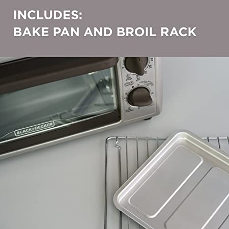 Amazon.com: BLACK+DECKER 4-Slice Countertop Toaster Oven, Stainless steel Silver TO1322SBD: Kitchen & Dining