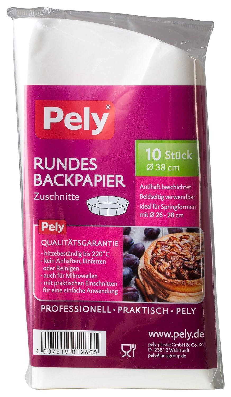 pely - Papel de horno redondo (4 paquetes de 10 unidades): Amazon ...