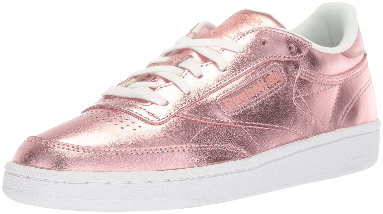 Reebok Women's Club C 85 S Shine Sneaker B071WDBPV9 9 B(M) US|Copper/White
