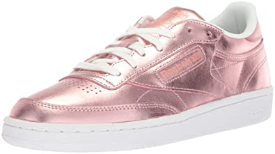 500453e91046 Reebok Women s Club C 85 S Shine Walking Shoe Copper White 5 M US