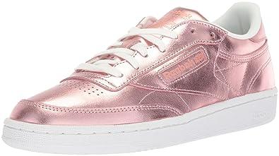 a6d1c12bb0bfc4 Reebok Women s Club C 85 S Shine Walking Shoe Copper White 5 M US