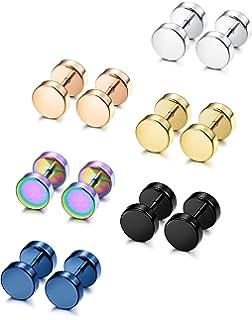 Amazon.com: Feramox Stainless Steel Mens Womens Stud Earrings Set ...