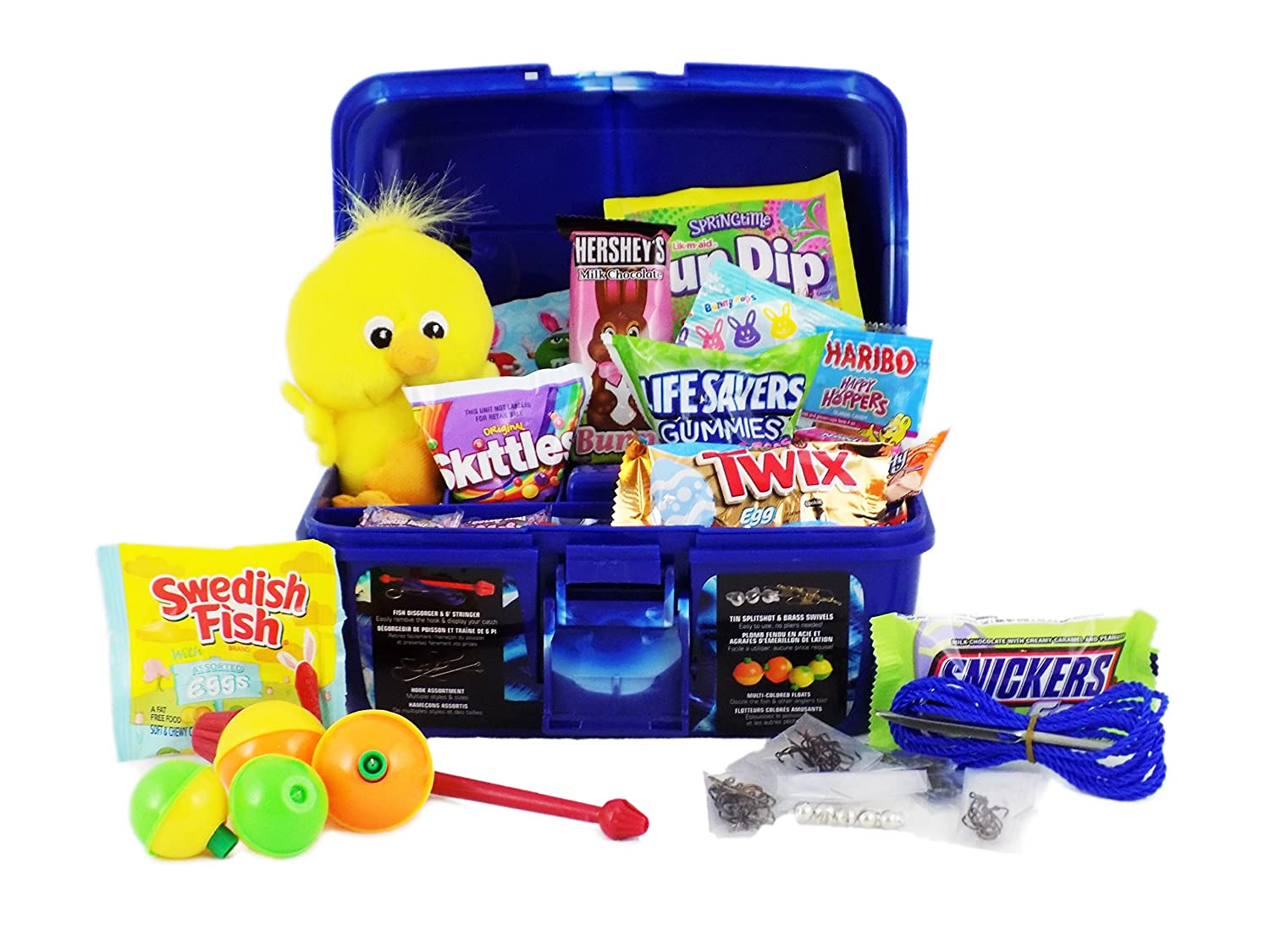 Amazon fishing candy and toy easter basket with fisherman amazon fishing candy and toy easter basket with fisherman caddy tackle box grocery gourmet food negle Images