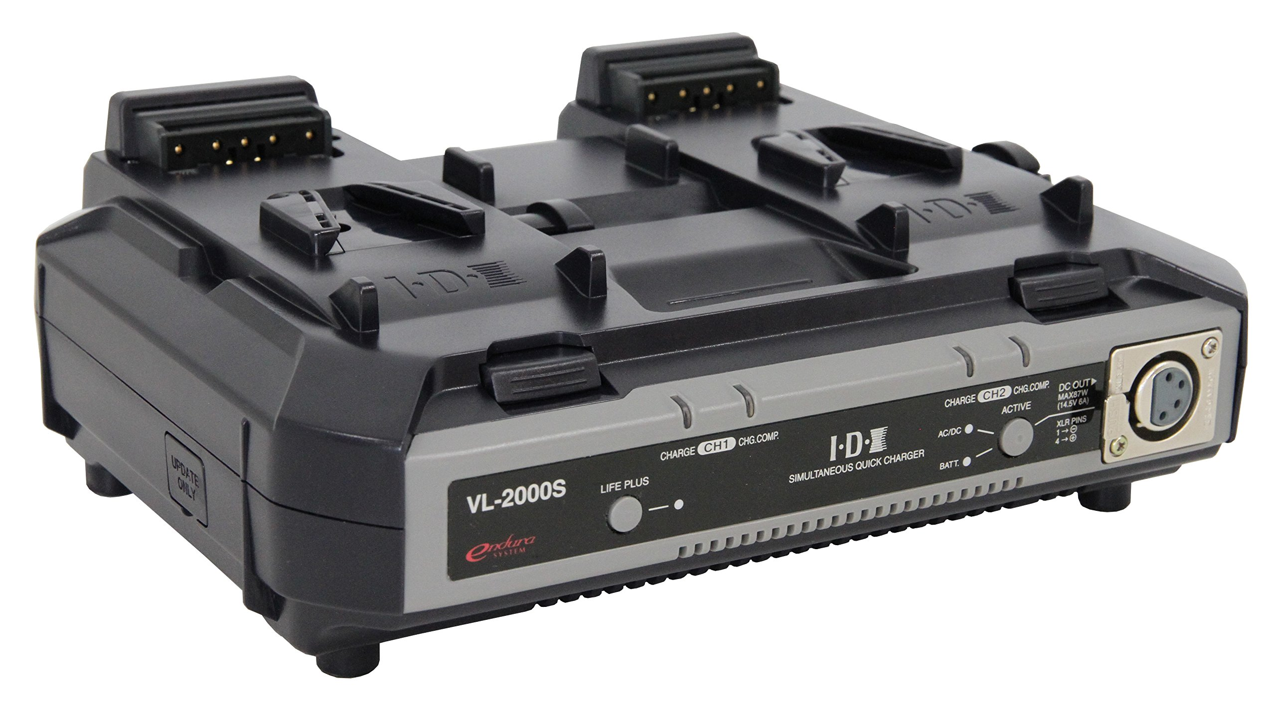 IDX VL-2000S 2-Channel Simultaneous V-Mount Charger / Power Supply by IDX