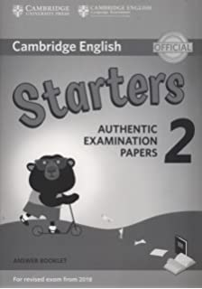 d01f4585c7c97 Cambridge English Young Learners 2 for Revised Exam from 2018 Starters  Answer Booklet  Authentic Examination