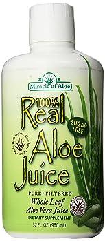 Miracle of Aloe Whole Leaf 32-ounce Aloe Vera Juice