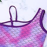 FEESHOW Girls Princess Mermaid Tail Swimsuit Ruffle