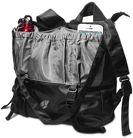 cb7958e38908 Amazon.com  Black and grey designed Multi-Purpose Large Yoga Bag ...