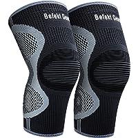 Befekt Gears Kniesteun voor mannen vrouwen [2 Pack] Ademend anti-slip kniebrace Compressie Sleeve - Ideaal voor artritis…