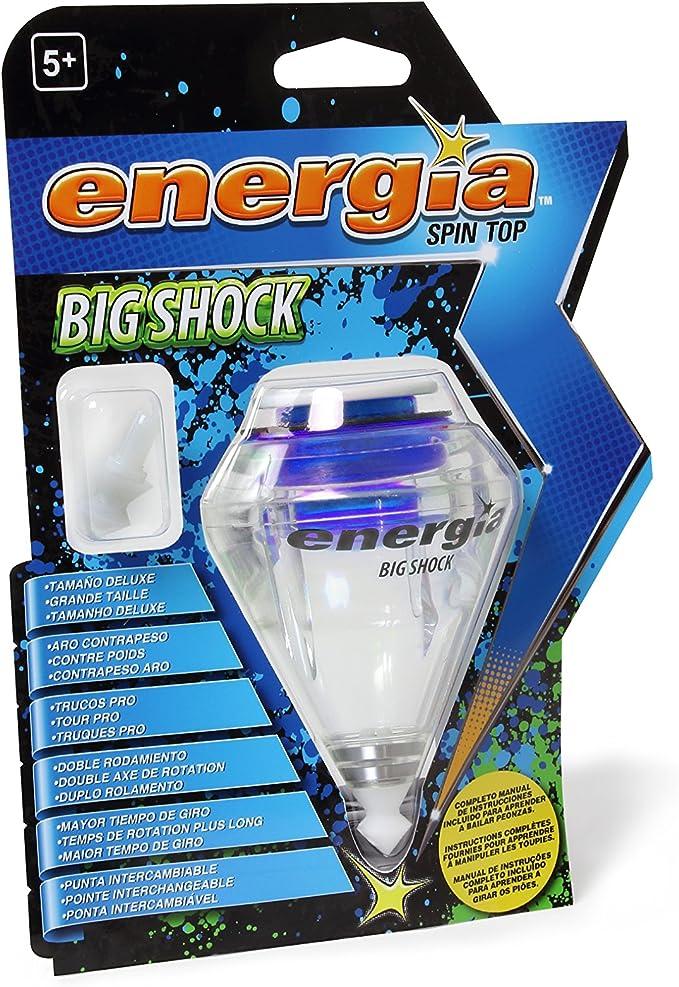 Energía - Big Shock Peonza eléctrica Deluxe con doble rodamiento y ...