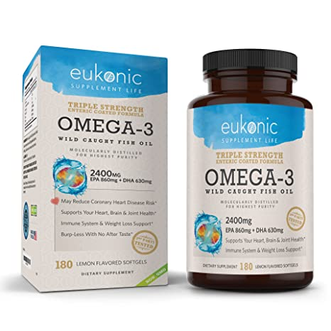 Amazon.com: Omega-3 - Aceite de pescado salvaje 2400 mg ...