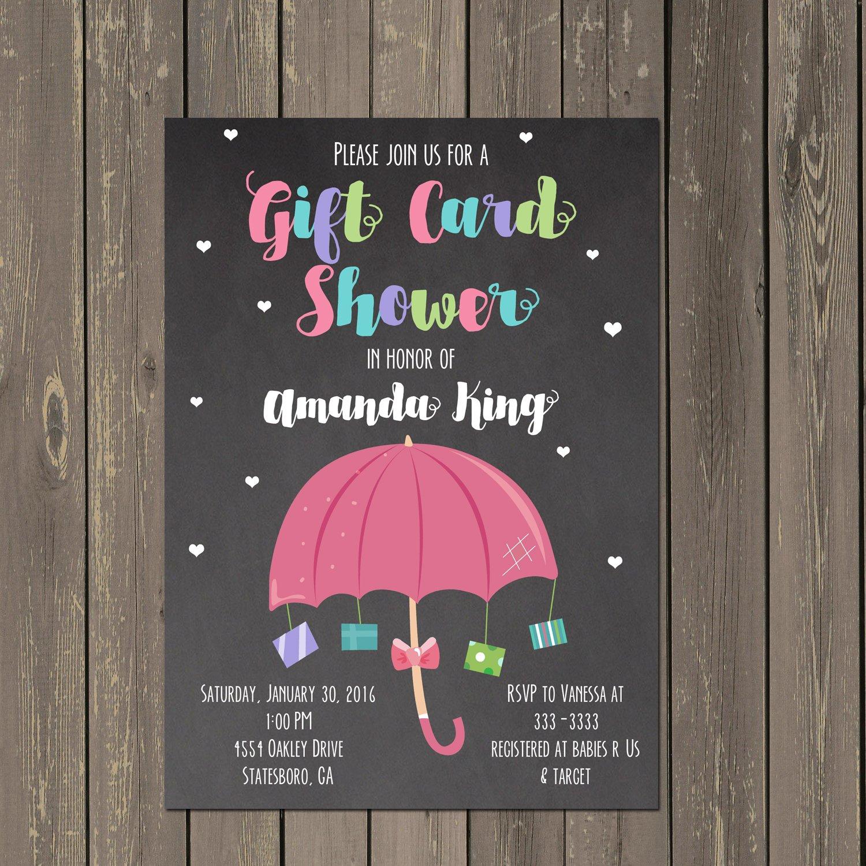 Amazon Com Gift Card Baby Shower Invitation Baby Sprinkle