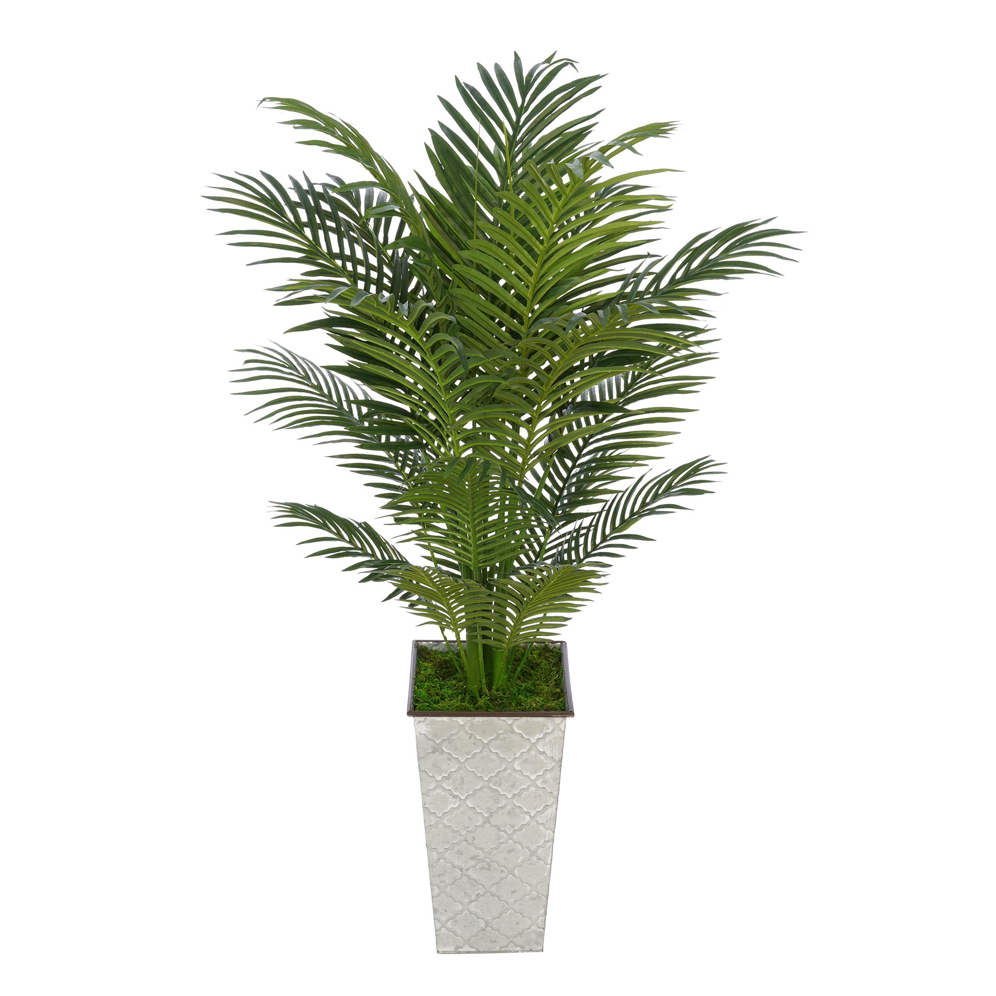 Artificial 4-1/2 foot Areca Palm in Designer Metal (230)