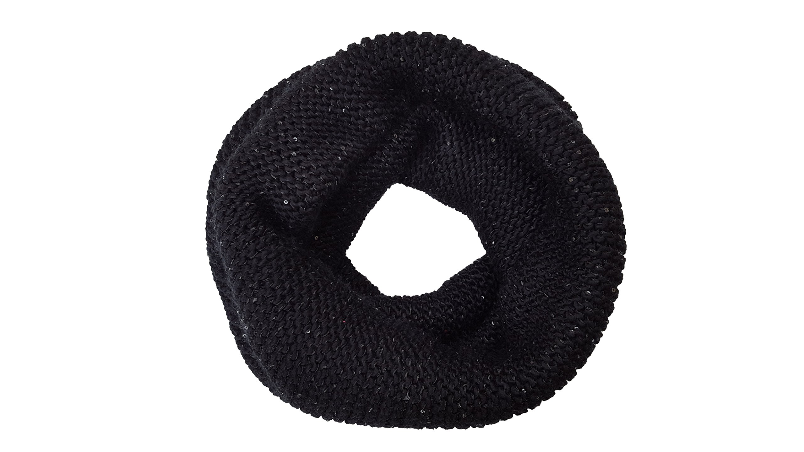 Kate Spade Sequin Knit Neckwarmer, Black by Kate Spade New York