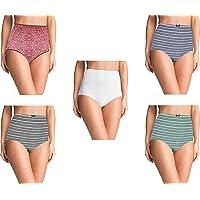 Pepperika Over The Bump Maternity Hygiene Panties/High Waist Maternity Panties Mom/Pregnancy Panties/Plus Size Panties/Big Size Underwear (Pack of 3) Size 5XL