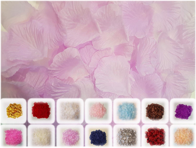 100 Purple Rose Petal Confetti Table Decoration
