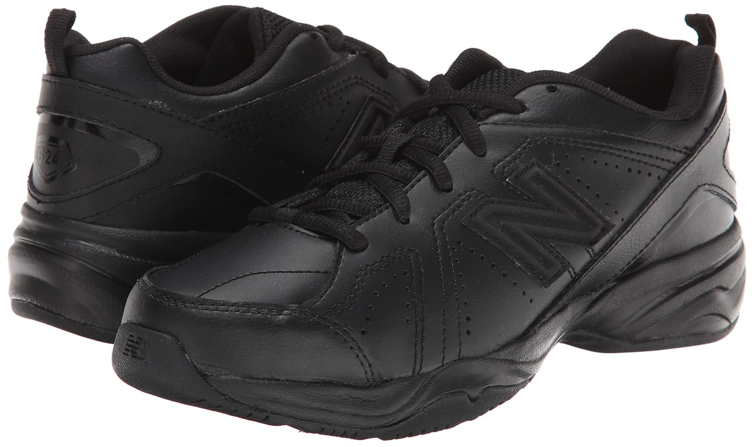 New Balance Boys KX624 Lace-Up Training Shoe ,Black,7 W US Big Kid by New Balance (Image #6)