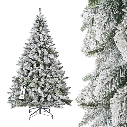 358 opinioni per FAIRYTREES Albero di Natale artificiale ABETE ROSSO, bianco naturale con FIOCCHI
