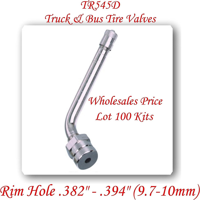 Lot of 10 Kits TR573 Truck Tire Valve Stem Wheels 22.5 //24.5 For Rim /Φ.625.Holes L:4.527 = 115 mm