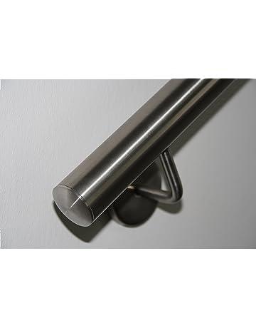 Pasamanos de acero inoxidable V2A de 42,4mm pulido en grano 240,