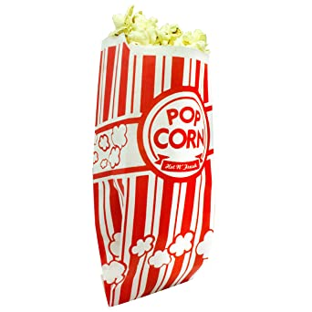 Amazon.com: Bolsas de palomitas de maíz recubiertas para ...
