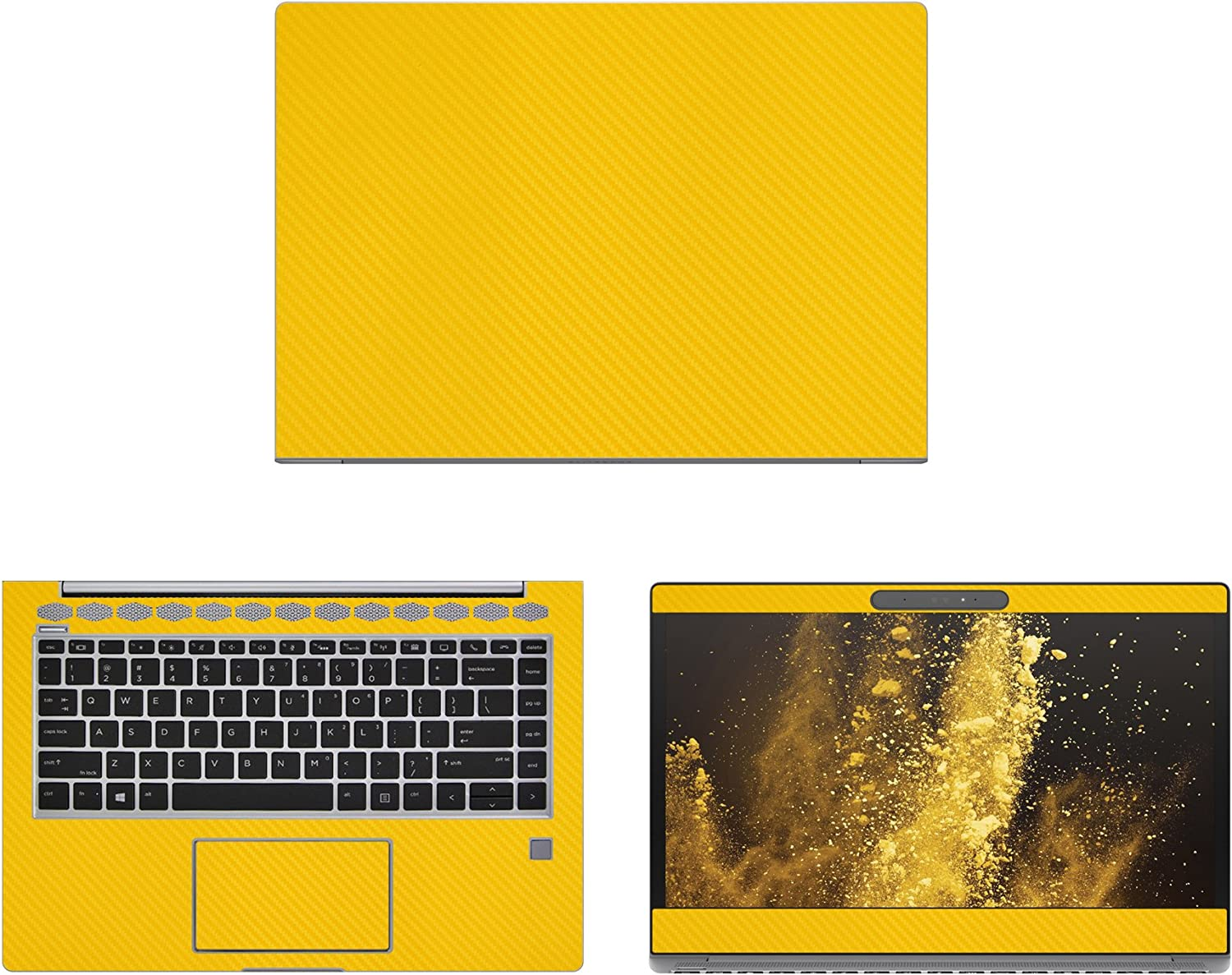 Amazon Com Decalrus Protective Decal For Hp Elitebook 1040 G4 14 Screen Laptop Yellow Carbon Fiber Skin Case Cover Wrap Cfhpelitebk1040g4yellow Electronics