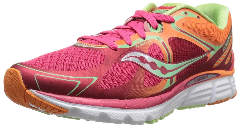 Saucony Women's Kinvara 6 Running Shoe B00PJ8A314 10.5 B(M) US|Red/Orange/Mint