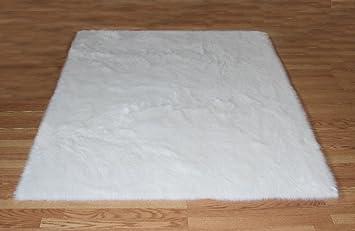 flokati faux fur rugs 6u0027 x 9u0027 white