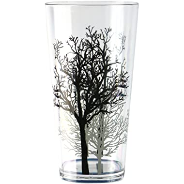 Corelle Coordinates by Reston Lloyd Timber Shadows Acrylic Tumbler Glasses, 19-Ounce, Set of 6