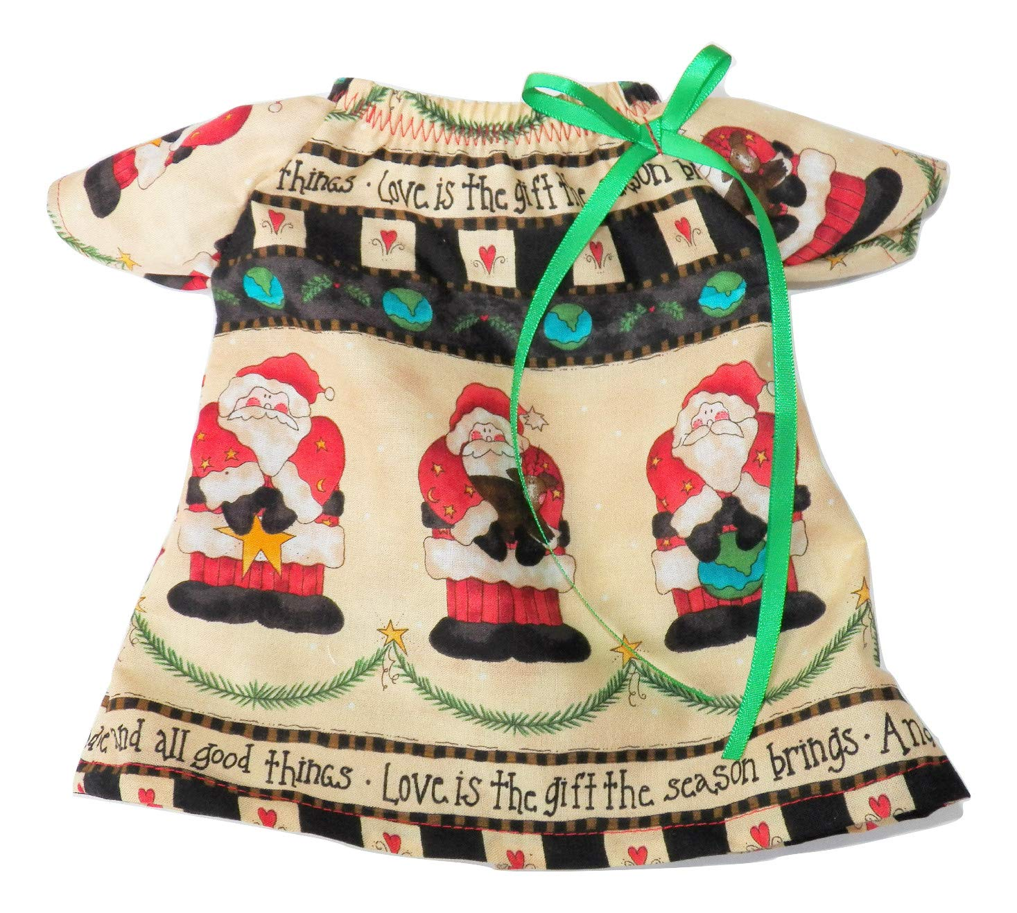 Bitty Baby Doll Clothes 15 inch Doll Clothes Santa Nightgown
