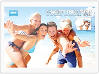 Shot2go Pack of 6 magnetic photo fridge frame pockets clear 4x6 (10x15cm)
