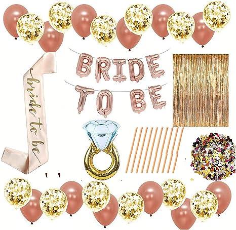 Bride to Be Theme Bachelorette Party Decora Bride to be Sash Balloon Banner Gift