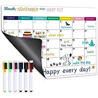 Magnetic Calendar for Refrigerator - Fridge Calendar, Magnetic Dry Erase Calendar with Six Markers, Monthly Calendar…