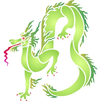 amazon com dragon stencil size 5 w x 5 h reusable wall stencils