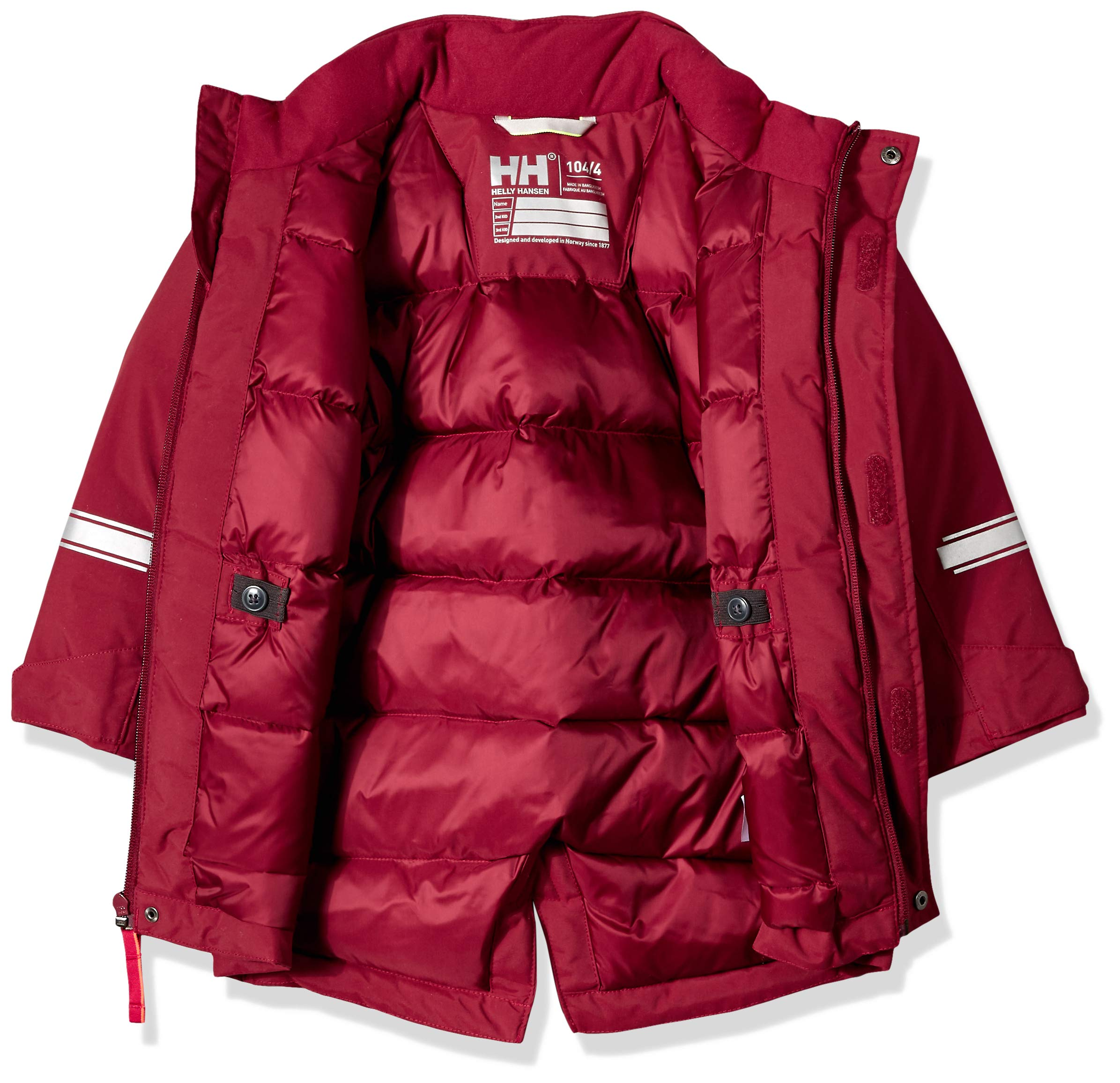 Helly Hansen K Isfjord Down Parka Jacket, Cabernet, Size 4 by Helly Hansen (Image #3)