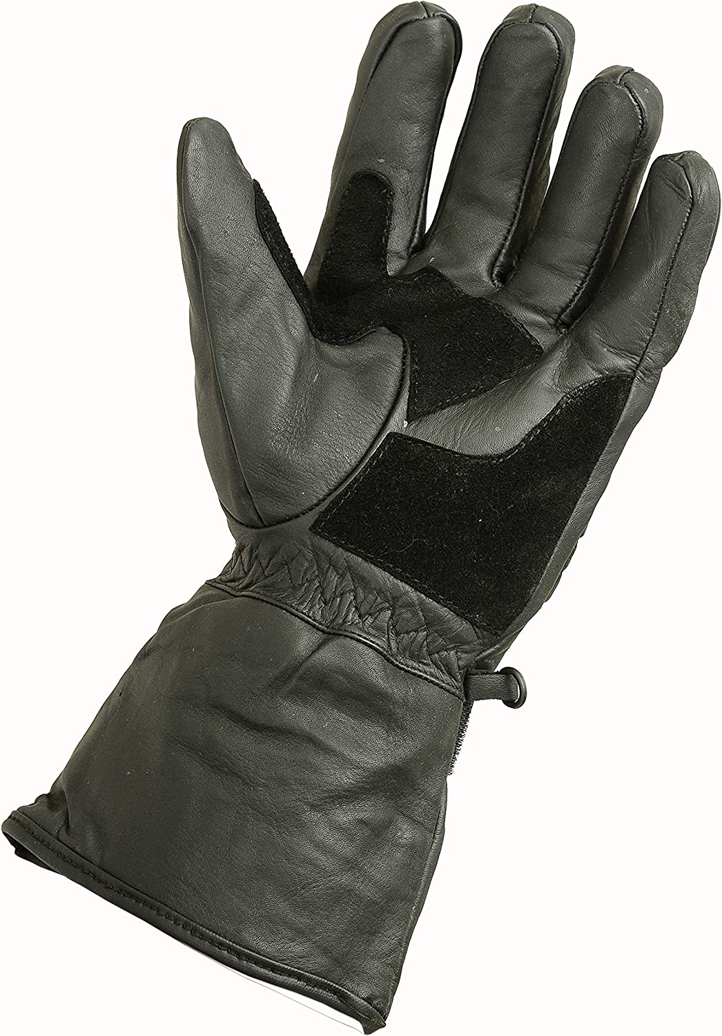 M Winter Leather Motorbike Gloves Reflective Waterproof Padded Thermal Black
