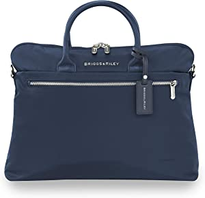 Briggs & Riley Rhapsody-Slim Business Laptop Shoulder Bag, Navy, One Size