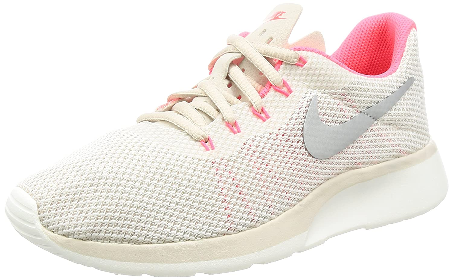 NIKE Women's Tanjun Running Shoes B006BC9DPY 8.5 B(M) US|Lt Orewood Brn/Chrome/Sail/Solar Red