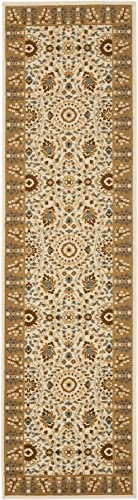 Safavieh Treasures Collection TRE215-1222 Ivory and Caramel Area Rug 8' x 10'