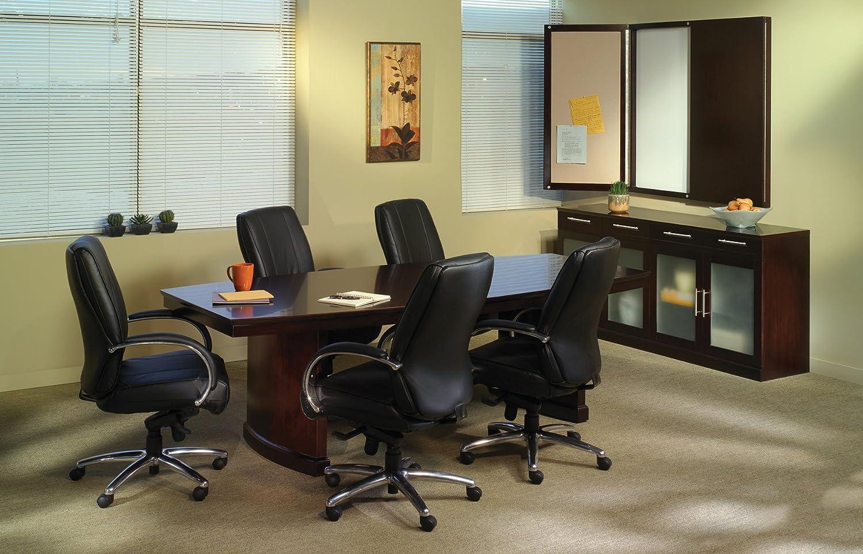 Espresso Veneer Mayline Sorrento Conference Room Table 6 Rectangular