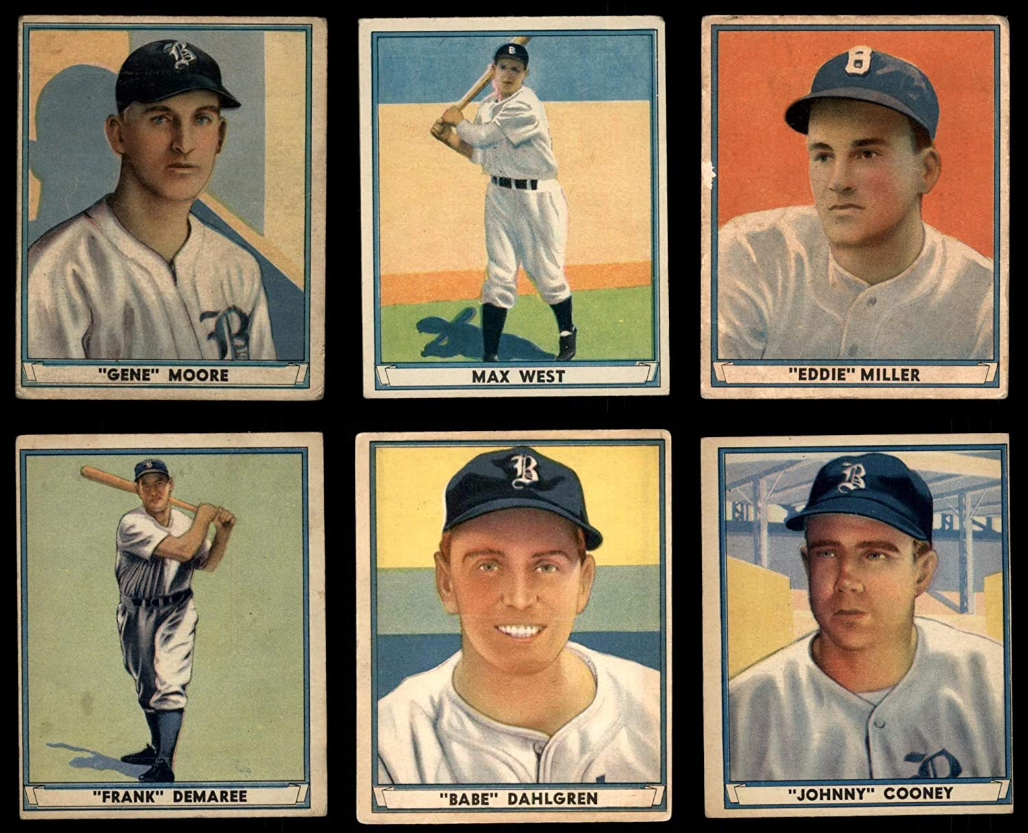 1941 spielen Ball Boston Braves in der Nähe von Team Satz Boston Braves (Baseball Set) Dean'S Cards 3 - Vg Braves
