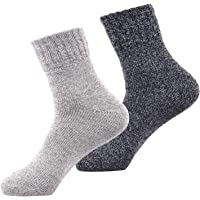 Winter Socks Women Mens Wool Knitting Warm Thick Cotton Sock for Boots Ski Hiking Bed by SIMIYA