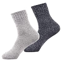 Winter Socks Women Mens Wool Knitting Super Warm Plus Thick Cotton Sock for Boots Ski Hiking Bed by SIMIYA