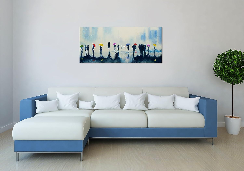 Amazon.de: 100% HANDGEMALT + Zertifikat | 115x50 cm | YS-Art Acryl ...