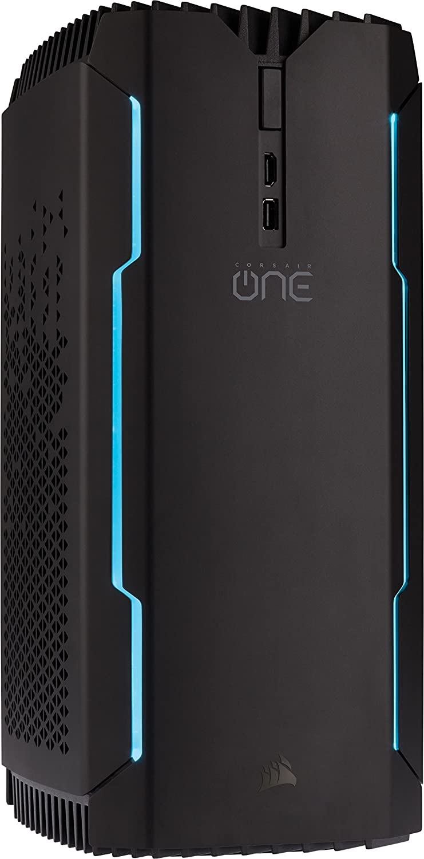 CORSAIR ONE PRO PLUS, Processeur Intel Core i7-8700K à Refroidissement Liquide, Carte Graphique GTX 1080 Ti à Refroidissement Liquide, SSD M.2 480 Go, Disque Dur 2 To, DDR4 16 Go Processeur Intel Core i7-8700K à Refroidissement Liquide