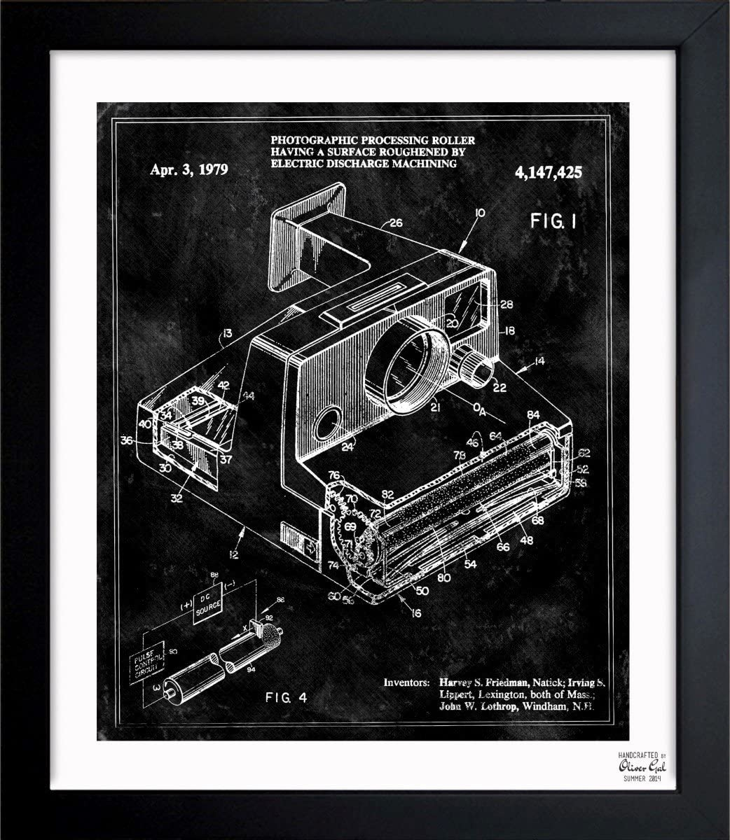 Polaroid Camera 1979' Vintage Framed Wall Art Print for Home decor & Office. The Photography Wall Decor Blueprint Collection by Oliver Gal Hand Framed and Ready to Hang. 10x12 inch